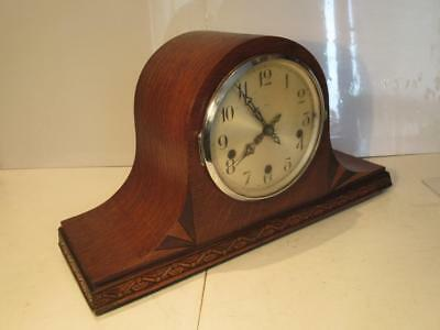Vintage c1940 Enfield Clock Co 8 Day Westminster Chimes Napoleon Mantle Clock