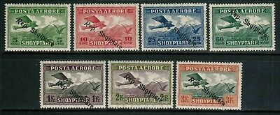 Albania Airmail 1927 Sc#C8-C14 Overprint Rep.Shqiptare, Complete Set MLH, cp2