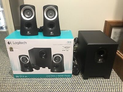 LOGITECH Z313 SPEAKERS 2.1 2.1 Stereo Speaker System: Compact Subwoofer. 25w RMS