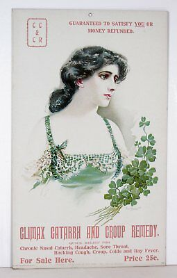 1905 Climax Remedy Cure Patent Medicine Chromolithograph Advertising Sign #1