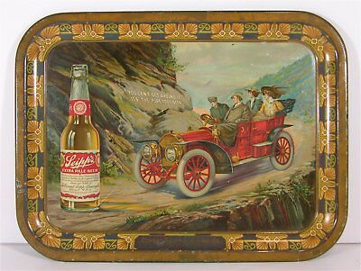 1908 Conrad Seipp Brewing Tin Litho Advertising Beer Tray - Car And Bottle Tray