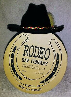 Rodeo Hat Company Department 56 Cowboy Hat Ornament W/ Original Box! Too Cute!