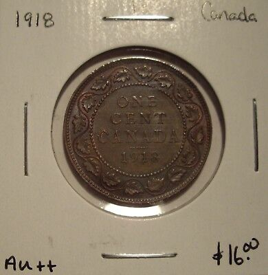 Canada George V 1918 Large Cent - AU++