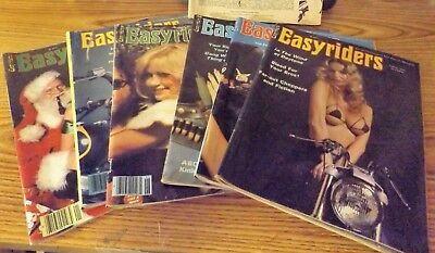 Lot of 6 Vintage EasyRider magazines Aug 76-Jan 80 Very good condition
