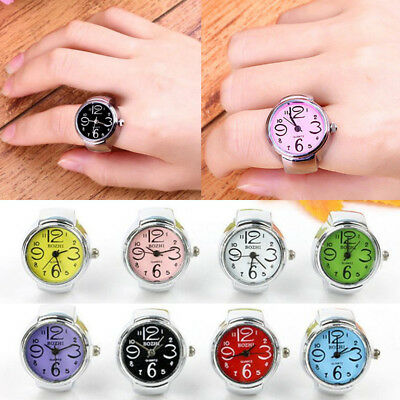 Fashion Dial Quartz Analog Watch Creative Steel Cool Elastic Quartz Finger Ring