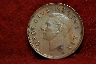 South Africa, 1952 1/4 Penny - Farthing, KM32.2, AU, rough, No Reserve,     mab8