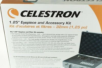 Celestron - 1.25 Inch Telescope Eyepiece and Filter Accessory Kit - Silver