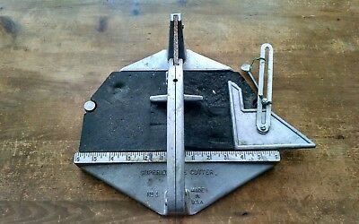 Superior Tile Cutter No.1 Cast Aluminum Made in USA Pre-Owned Good Condition