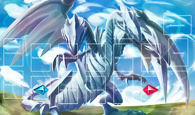 D366n Free Mat Bag Blue Eyes Ultimate Dragon Playmat Yugioh TCG Play Mat Zones