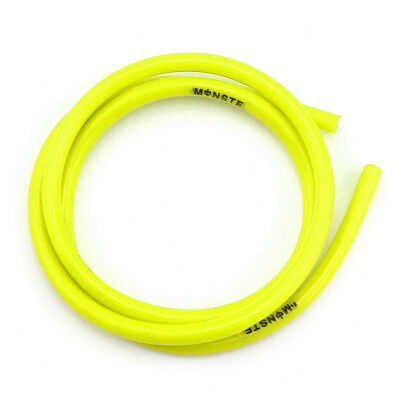 Yellow 1M Motorcycle Oil Hose Fuel Tube Rubber 6mm-8mm Universal for Yamaha BMW