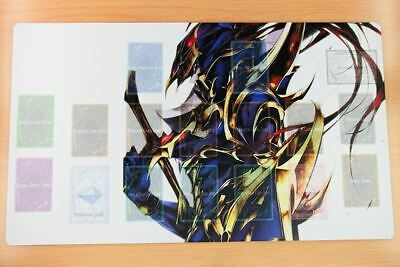 D675n Free Mat Bag Yugioh Trading Card Game Playmat Black Luster Soldier Zones