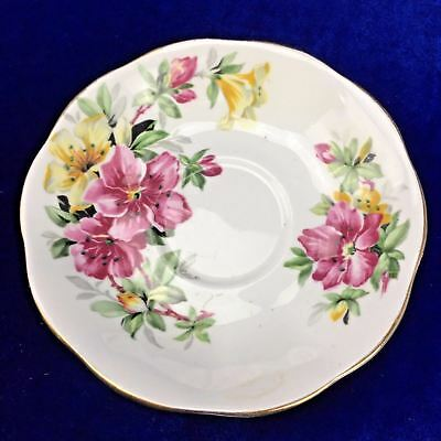 Queen Anne Azalea Bone China Replacement SAUCER  MADE IN ENGLAND Porcelain