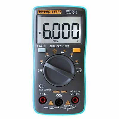 ZT102 6000 Counts Pocket Portable Auto Ranging Digital Multimeter Tester Tools