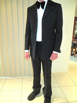"MEN'S SUIT FORMAL BLACK slim build SIZE S man/boy 32"" waist RODGER BARTHOLOMEW"