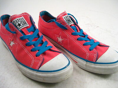 EUC Converse One Star Women's 7 Hot Pink Canvas Sneakers Lo Tops
