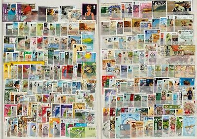 ISLE OF MAN: 222 different used, old to recent, defins and commems.