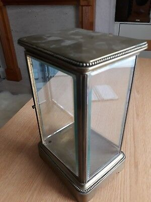 brass and glass clock case only.