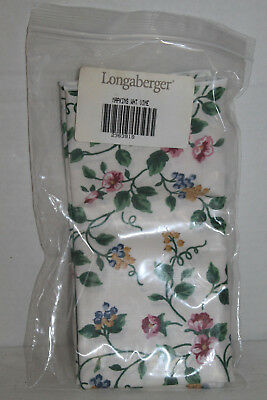 New Longaberger White Vine Fabric Napkins Lot Of 2