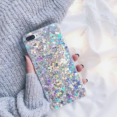 For Huawei Phones Bling Glitter Shockproof Silicone Case Cover