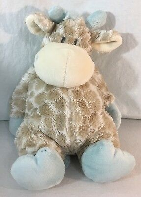 "NAT And Jules Blue Taupe Baby COLBY Stuffed Animal Plush GIRAFFE 14"" Demdaco"