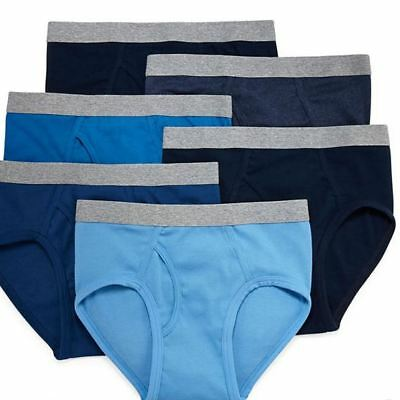 Stafford Men's 6-Pack 100% Cotton Low-Rise Briefs Assorted Blues