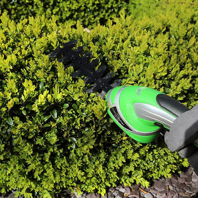 Garden Cordless 2-In-1 Grass Lawn Shear Bush Hedge Hand Trimmer Cutter Battery