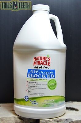Nature's Miracle Allergen Blocker Carpet Shampoo 1.89L (64 FL OZ) Fresh Scent