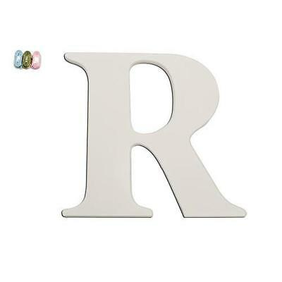"""Babies""""R""""Us 2344 R White Wooden Personalizable Letter Wall Decor 7.5 Inch BHFO"""