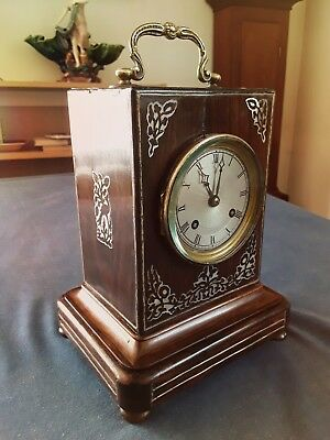 Mid 19th C Rosewood carriage clock / Pundule d'Officier by Henri Marc, Paris