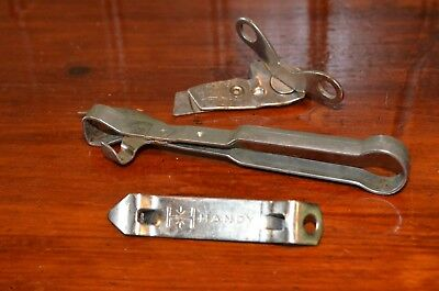 3 Vintage Can Bottle Openers * A&J * HANDY * Vaughn's Safty Roll Jr
