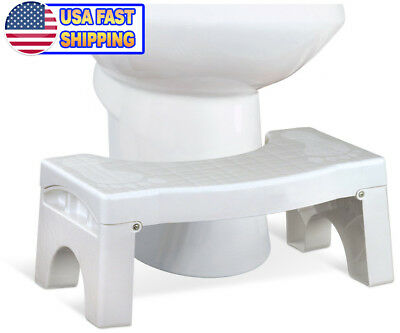 "Squat N Drop Folding Squatting Bathroom Toilet Potty Stool Step 7"" Universal"
