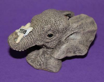 "Marty Sculpture HERD Elephant Collectible - 1998 Star Ornament - 2-3/4"" x 1-3/4"""