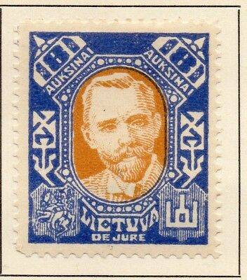 Lithuania 1922 Early Issue Fine Mint Hinged 8A. 227655