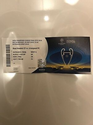 Ticket UEFA Champions League Final 2018 Fc Liverpool vs Real Madrid CF TOP Names