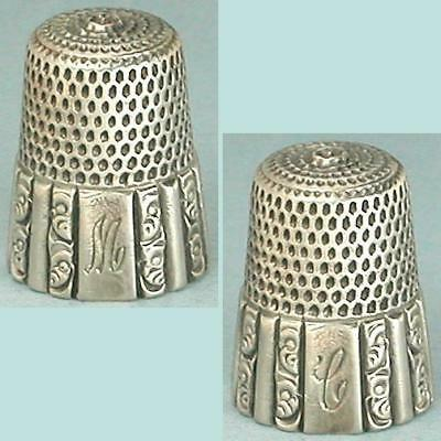 Antique Sterling Silver Fluted Octagon Thimble * Circa 1900s