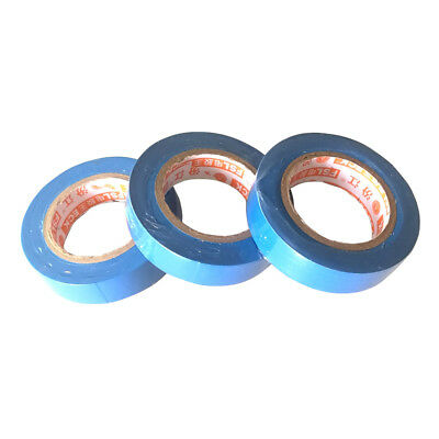 3 Pcs 0.15mm 17mm x 15m PVC Flame Retardant Electrical Tape Home Tool Blue