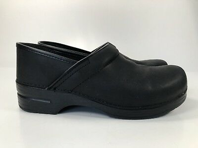 Dansko Black Leather Loafer/Clogs Men's Sz 10.5/44 Pull On