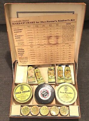 Vintage 1940s? Max Factor Stage Make-Up Kit for Students