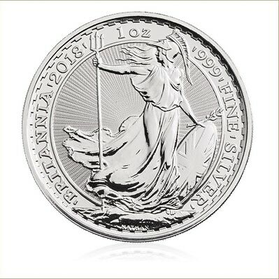 Britannia 1 oz Silver Coin 2018 Bullion £2 999 Fine Royal Mint