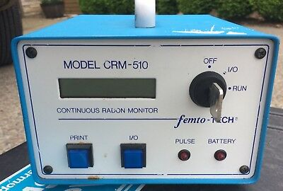 Used femto-TECH CRM-510 Continuous Radon Monitor