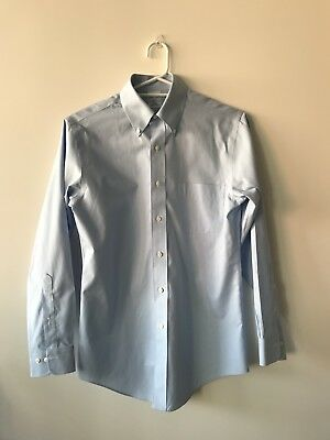 Pre-loved Brooks Brothers Slim Fit Non Iron Blue Work Shirt Size 14.5 (S)