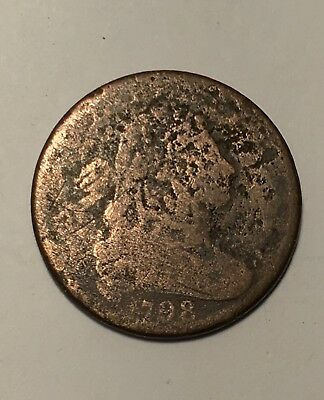 1798 1C  BN Draped Bust Cent (2nd hairstyle?)