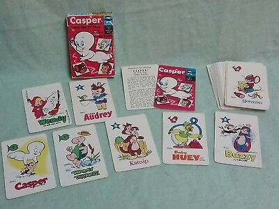 CASPER GHOST VINTAGE 1950s rummy CARD GAME LITTLE AUDREY WENDY WITCH complete