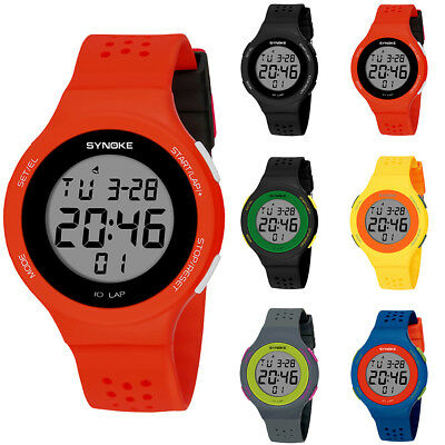 Fashion Sport Men Women Waterproof Alarm Date Stopwatch Digital Wrist Watch Humb