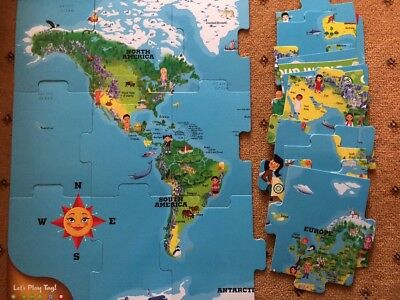Leapfrog leapreader world interactive map no box 799 picclick uk leap frog leapreader map of the world interactive puzzle gumiabroncs Gallery