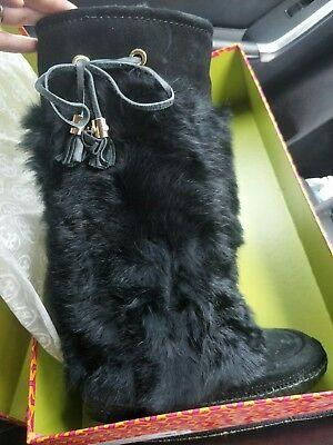 Tory Burch Never Worn Black tall Ugg Boots Size 6 (Euro size 36) RRP$395