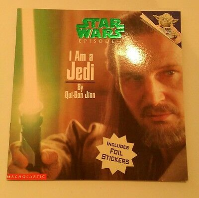 "STAR WARS Episode 1 - ""I am a Jedi"" by Qui-Gon - picture book with stickers NEW!"