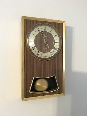 vintage Retro WALL CLOCK Metamec Pendulum Working