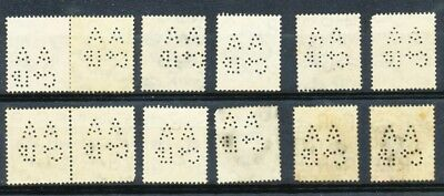 Great Britain 12 x 1/ KGVI bistre private perf AA Co Ld SG 475