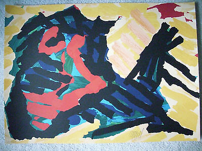 FINAL PRICE REDUCTION Karel Appel great image Hand Signed and Numbered  !!!!